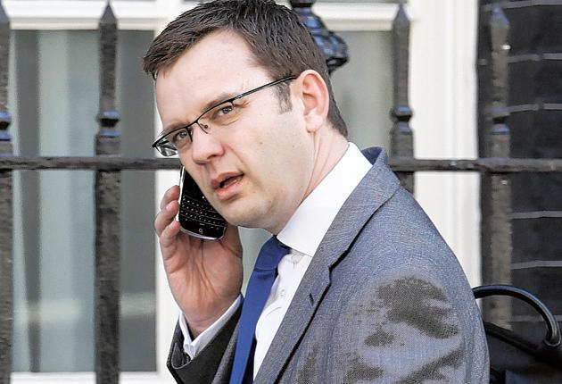 Andy Coulson, the former News of the World editor and now Tory media adviser, arriving at Downing Street