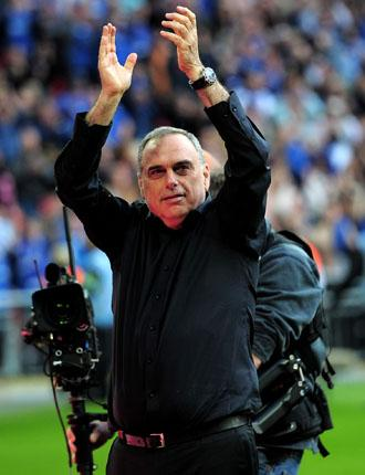 Portsmouth manager Avram Grant celebrates victory in the FA Cup Semi Final match
