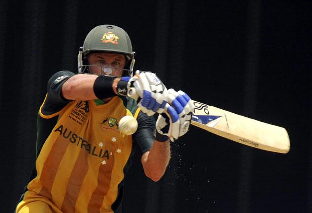 Australia's Mike Hussey played a pretty special innings against Pakistan