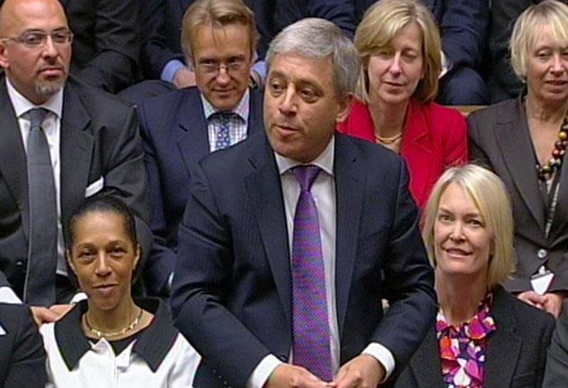 Speaker John Bercow in the House of Commons