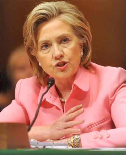 US Secretary of State Hillary Clinton testifies before the Senate Foreign Relations Committee hearing yesterday