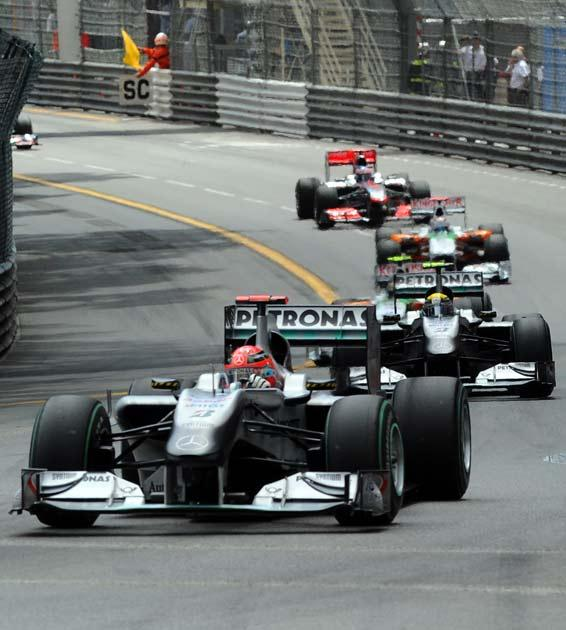 Schumacher was penalised in Monaco