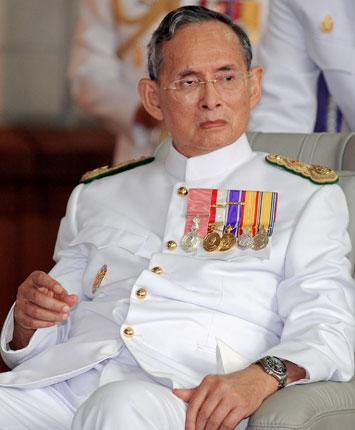 King Bhumibol Adulyadej of Thailand has been conspicuous by his silence throughout the conflict