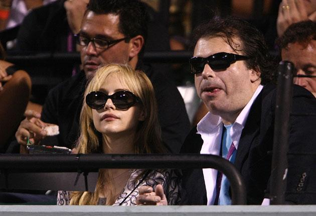 Simon Monjack and his wife, the actress Brittany Murphy, at a tennis match. Monjack was found dead at his Los Angeles home, on Sunday, five months after his wife died