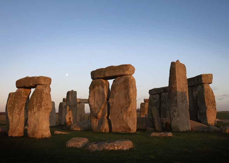 Britain's most famous stone circle: Stonehenge, near Avebury in Wiltshire