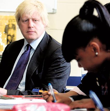 Boris Johnson teaches pupils at  St Saviour's and St Olave's School