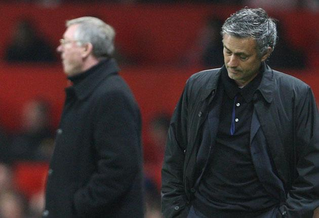 Gill rates Jose Mourinho (right) but it is Sir Alex Ferguson (left) who will have the final say over his successor