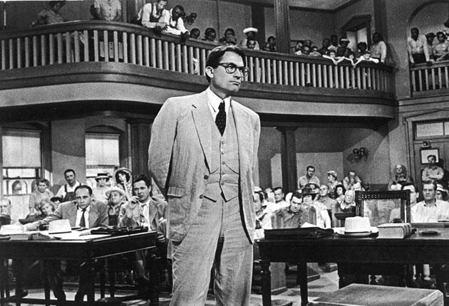 Gregory Peck, as Atticus Finch, in a scene from 'To Kill A Mockingbird,' 1962