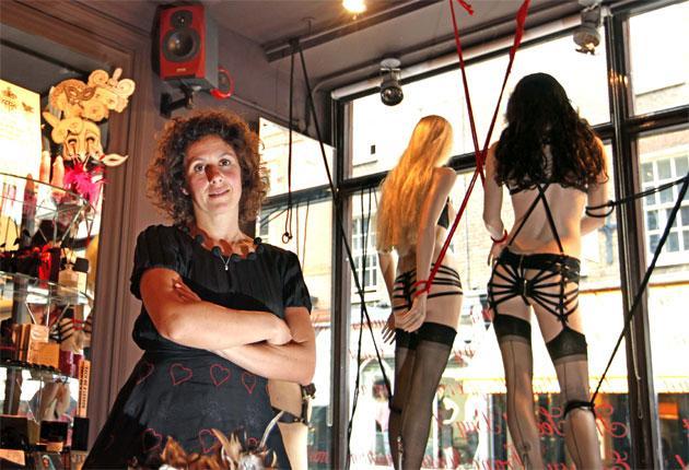 Unbuttoned: Sam Roddick in her London sex shop Coco de Mer