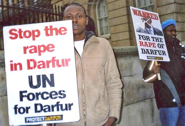 Abdullah Idris, left, was active in trying to raise awareness about the plight of Darfur before his suicide