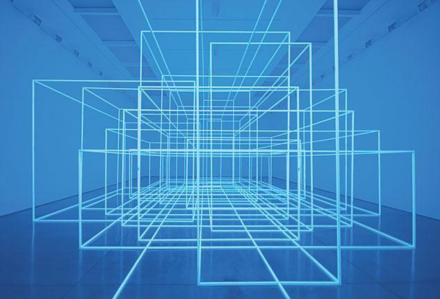 True blue: 'Breathing Room III' by Antony Gormley