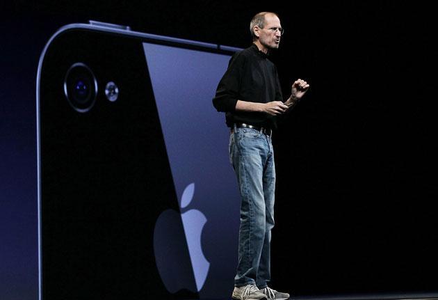 Apple CEO Steve Jobs announces the new iPhone