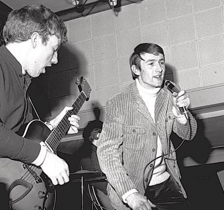 'Where it's at': St Peters, right, on stage in 1965