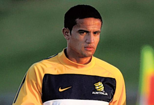 Tim Cahill is in a race to be fit Australia's opening group game against Germany in Durban on Sunday after injurying his neck