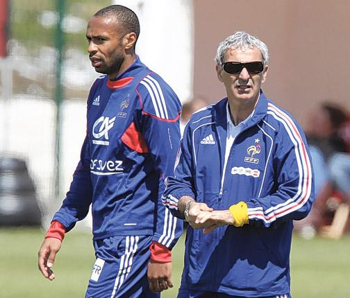 Raymond Domenech is under pressure to pick Thierry Henry