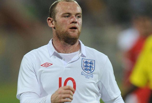 Wayne Rooney swore at the referee during England's last warm-up game against the Platinum Stars on Monday