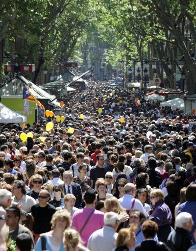 Pickpocket heaven - Las Ramblas in Barcelona