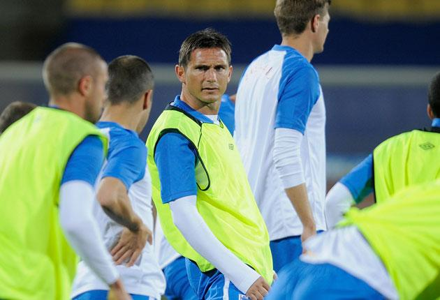 Frank Lampard and his England team-mates prepare for their opening Group C match against the United States today