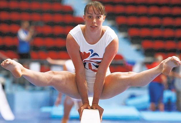 Full beam: 'I could do three flips and turn round the bar but it doesn't look as impressive as Spelbound,' says Beth Tweddle
