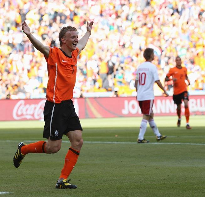 Liverpool's Dirk Kuyt scored the second goal