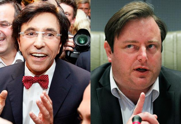 Socialist party President Elio Di Rupo and Flemish nationalist Bart de Wever are in talks over forming a government