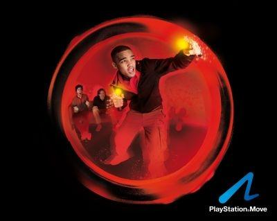 PlayStation Move motion controller - red publicity shot