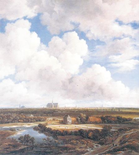 View of Harlem (With Bleaching Fields) (c1670)