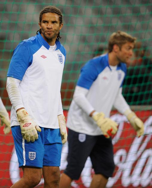 David James has endured a strained relationship with the England management in South Africa