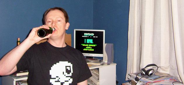 Retro games developer Jonathan Cauldwell takes a break.