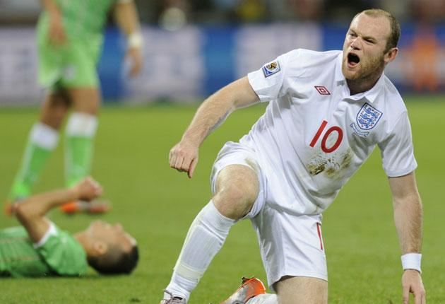 Wayne Rooney during a disappointing performance against Algeria on Friday night
