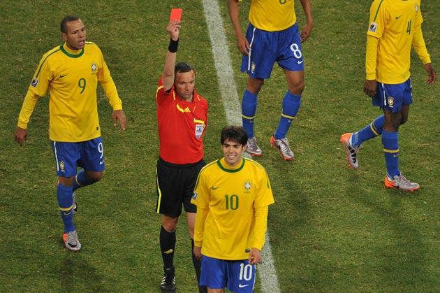 Kaka's red card was farcial