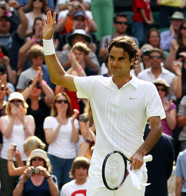 Federercame very close to defeat when he was two-sets behind