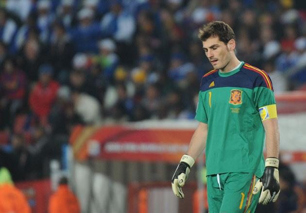 <b>SPAIN</b><br/><br/> <b>Iker Casillas:</b> Had absolutely nothing to do all night, he should have brought his sleeping bag. 6