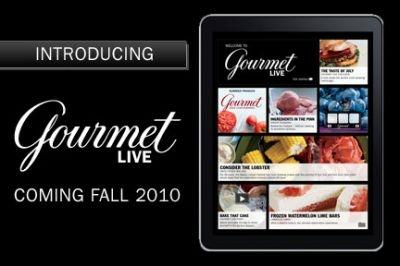Gourmet Live for the iPad