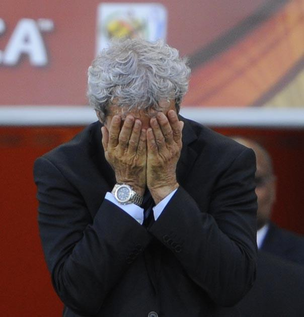 Domenech now leaves his post as France manager