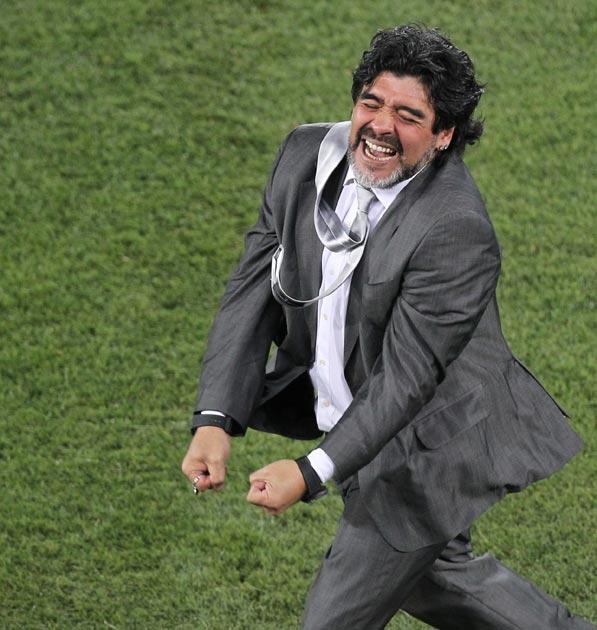 Maradona is loving it