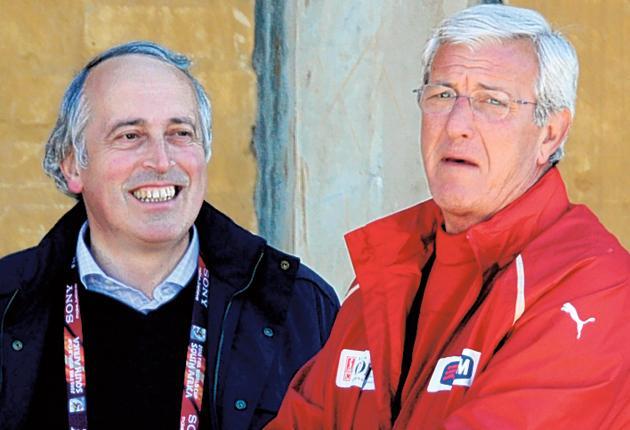 The pressure on Italy coach Marcello Lippi is intense