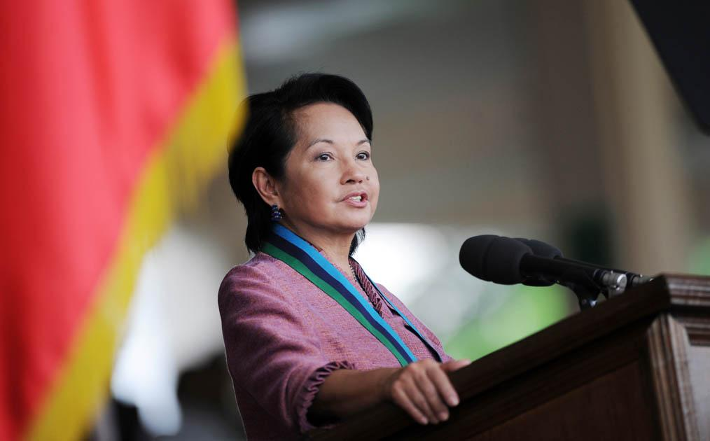 <b>Gloria Macapagal-Arroyo – President of the Philippines</b>  <p>Gloria Macapagal-Arroyo is the Philippines' second female president after Corazon Aquino. The daughter of the former president Diosdado Macapagal, she is also a descendent of Lakandula, t