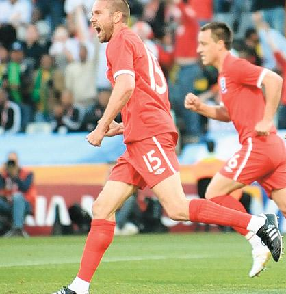 Upson's goal gave England hope, but it was not enough