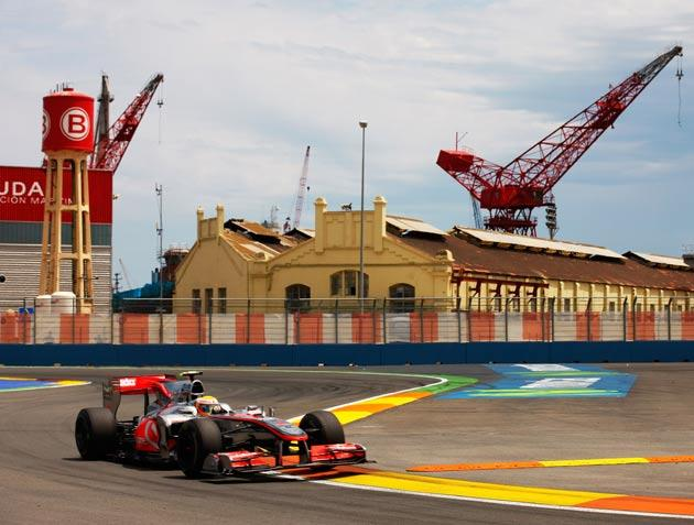 Hamilton overtook the safety car, giving himself a massive advantage