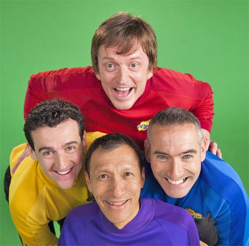 Wiggles members (clockwise from top) Murray, Anthony, Jeff and Sam