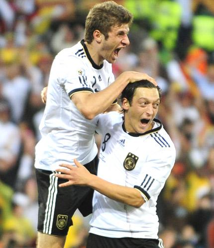Youngsters Thomas Muller, 20, and Mesut Özil, 21, have not only lit up Germany's tournament, but the World Cup as a whole