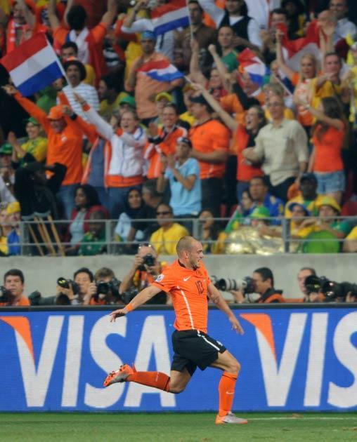Sneijder scored the winning goal