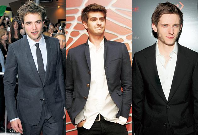 Robert Pattinson, 24, commands the big screen as Edward Cullen, the good vampire in the latest Twilight film, Eclipse. Andrew Garfield, 26, was revealed as the new Spider-Man. Jamie Bell, 24, is about to star as Tintin inSteven Spielberg's blockbusting ta