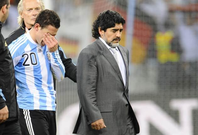Maradona is expected to leave