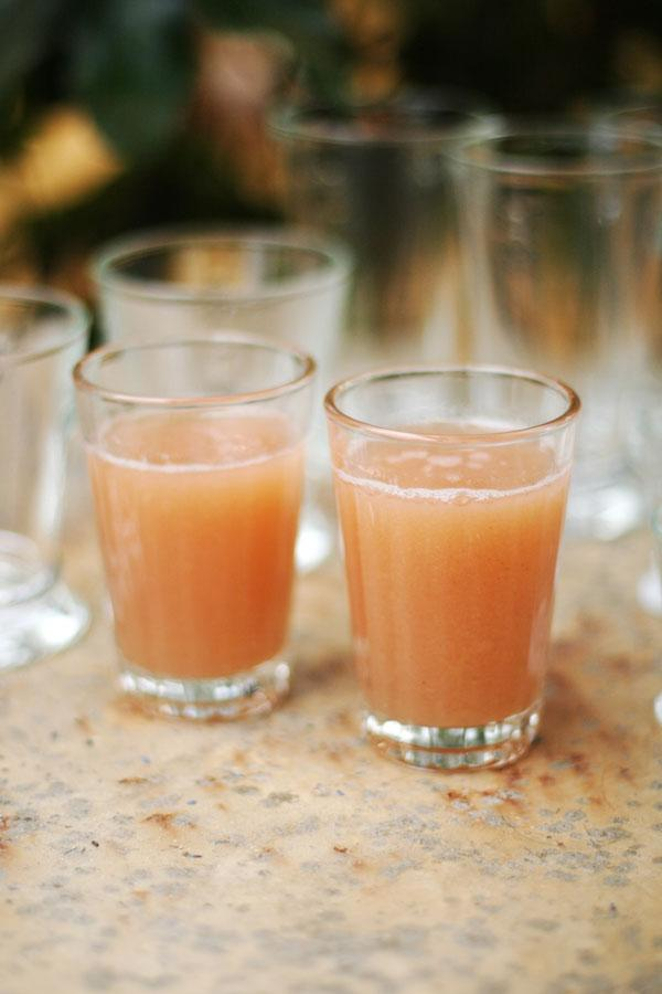 Gooseberry nectar is thick like nectar and needs to be served very well chilled