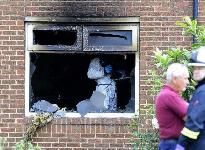 The aftermath of the Bradford fire where the two children died