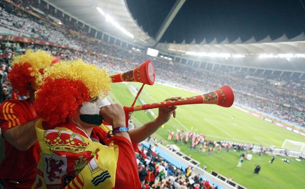<b>VUVUZELAS </b><br/>  Love them or hate them, the sound of the blaring plastic horns provided a lasting memory from this World Cup in South Africa.  <br/> Television viewers in particular found the noise intrusive - like the drone of a thousand angry ho