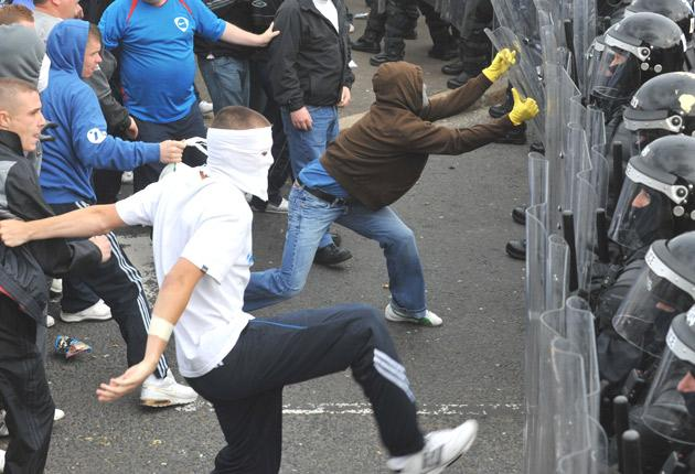 Trouble in Ardoyne, North Belfast, after an Orange Order parade passed through the area