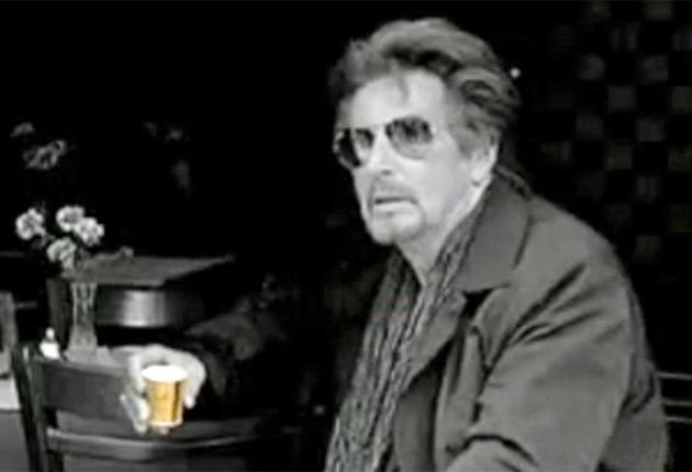 Al Pacino starring in a commercial for Vittoria coffee